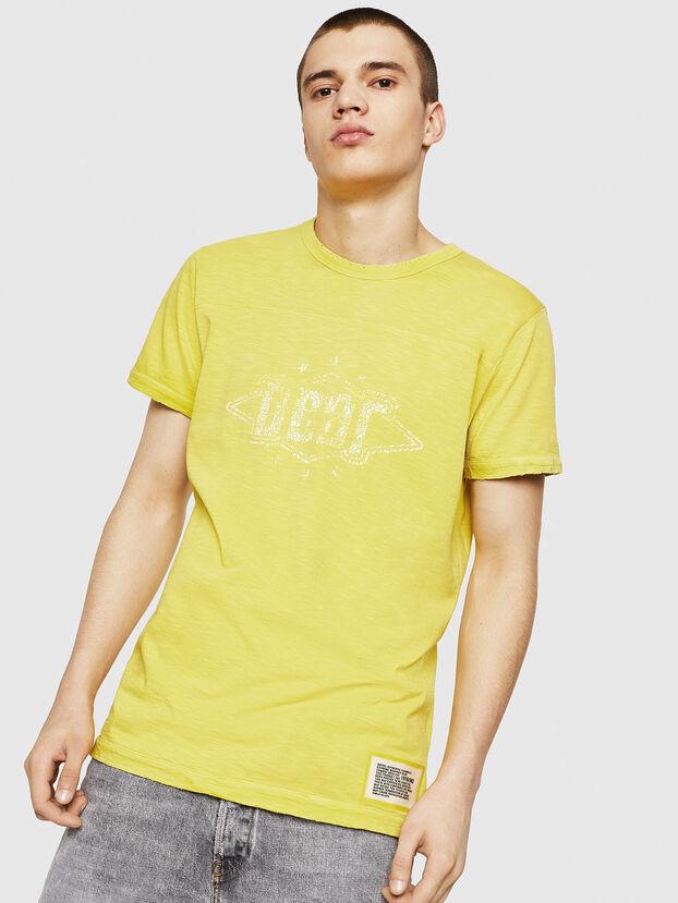 T-DIEGO-CUT-A, Gelb - T-Shirts