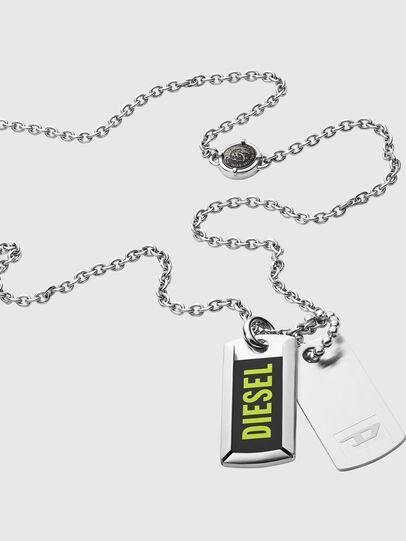 Diesel - DX1245, Argento - Collane - Image 2