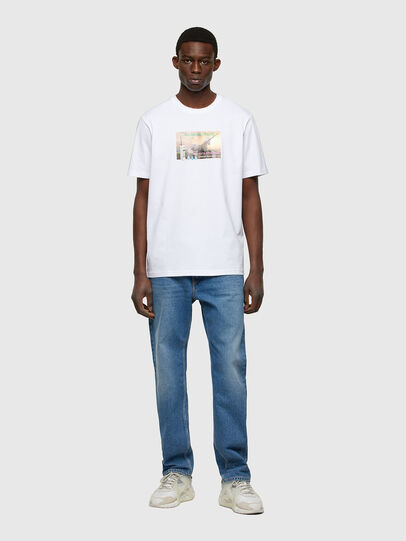 Diesel - T-JUST-A34, Bianco - T-Shirts - Image 5