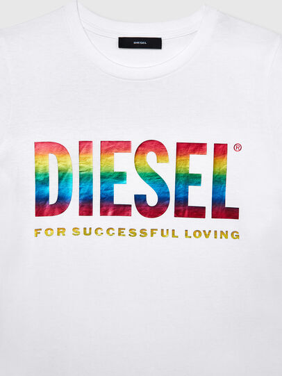 Diesel - BFOWT-SILY-P, Weiß - T-Shirts - Image 3