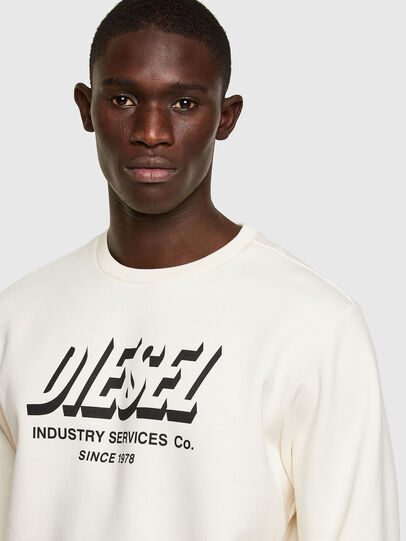 Diesel - S-GIRK-A74, Blanc - Pull Cotton - Image 3