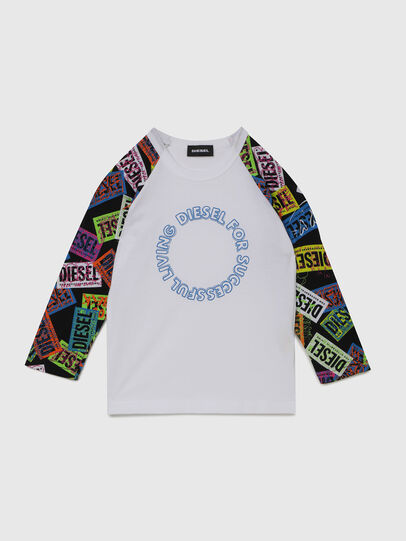 Diesel - TENTYB-R, Blanc - T-shirts et Hauts - Image 1