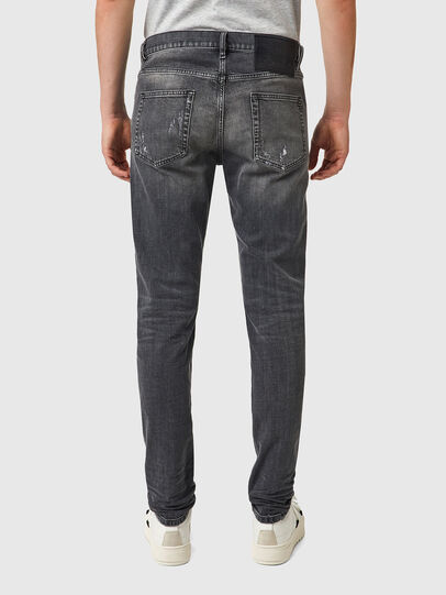 Diesel - D-Strukt 09B19, Nero/Grigio scuro - Jeans - Image 2