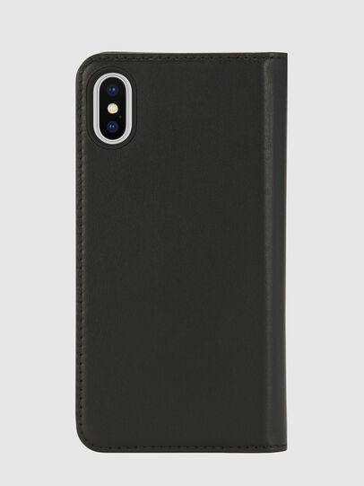 Diesel - SLIM LEATHER FOLIO IPHONE X, Schwarz - Klappcover - Image 2