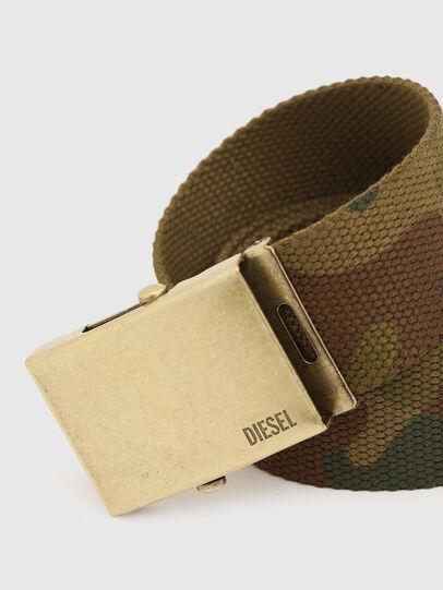Diesel - B-COMBA, Vert Camouflage - Ceintures - Image 2