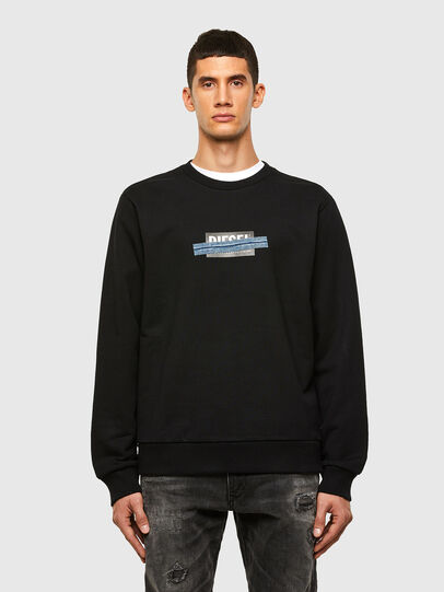 Diesel - S-GIRK-N83, Schwarz - Sweatshirts - Image 1