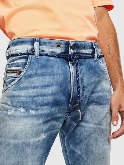 Diesel - Krooley JoggJeans 0099Q, Mittelblau - Jeans - Image 5