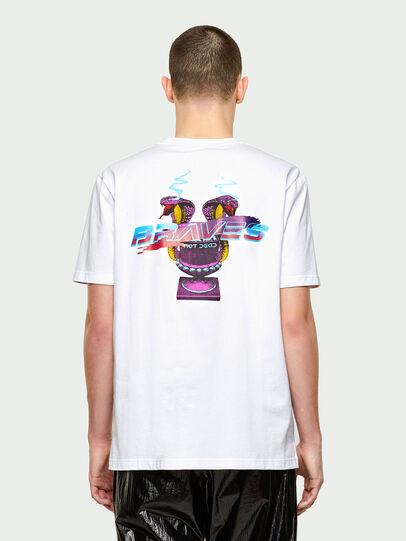 Diesel - T-JUBIND-SLITS-E1, Bianco - T-Shirts - Image 2