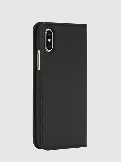 Diesel - SLIM LEATHER FOLIO IPHONE X, Schwarz - Klappcover - Image 4