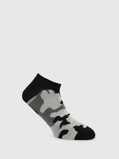 Diesel - SKM-GOST, Black/Grey - Low-cut socks - Image 1