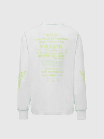 Diesel - T-JUSEAM-LS, Weiß - T-Shirts - Image 2