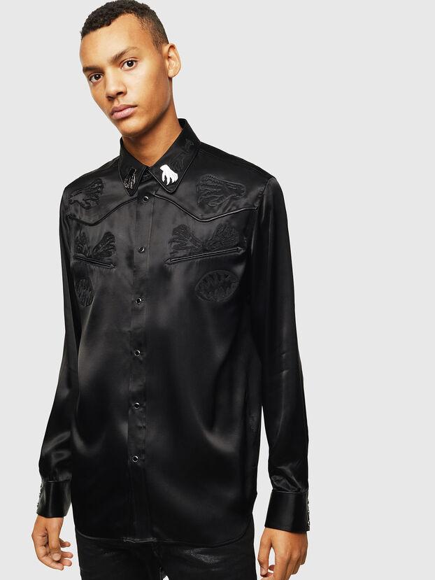 S-VEL, Schwarz - Hemden