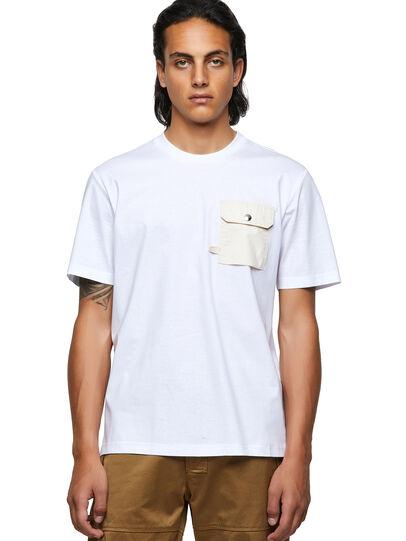 Diesel - T-JUSMER, Weiß - T-Shirts - Image 1