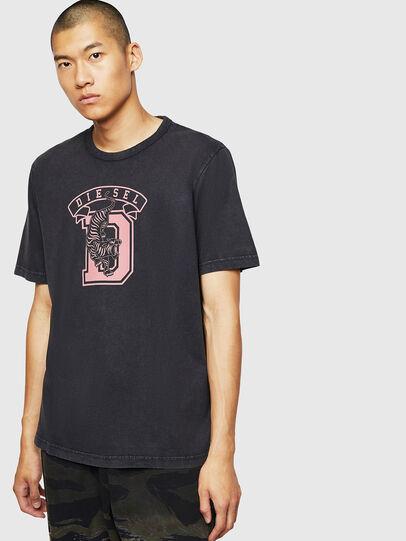 Diesel - T-JUST-B2, Schwarz - T-Shirts - Image 1
