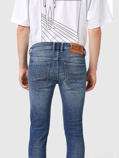 Diesel - Sleenker 09A86, Bleu Clair - Jeans - Image 4