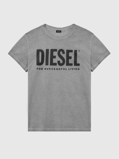 Diesel - T-DIEGO-LOGO, Grigio scuro - T-Shirts - Image 1