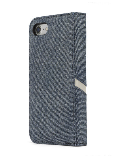 Diesel - DENIM IPHONE 8/7 FOLIO, Jeansblau - Klappcover - Image 5