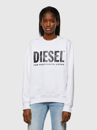 Diesel - F-ANGS-ECOLOGO, Noir/Blanc - Pull Cotton - Image 1