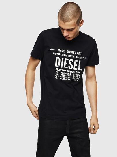 Diesel - T-DIEGO-B6, Schwarz - T-Shirts - Image 1