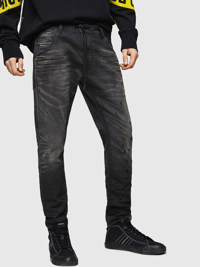 Diesel - Krooley JoggJeans 069GN, Schwarz/Dunkelgrau - Jeans - Image 1