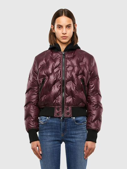 Diesel - W-AVALES, Plum - Winter Jackets - Image 1