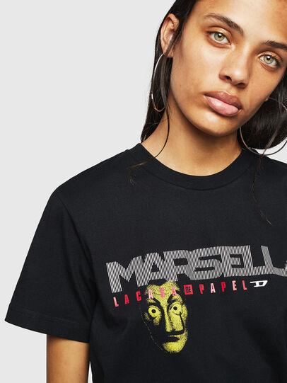 Diesel - LCP-T-DIEGO-MARSELLA, Schwarz - T-Shirts - Image 4