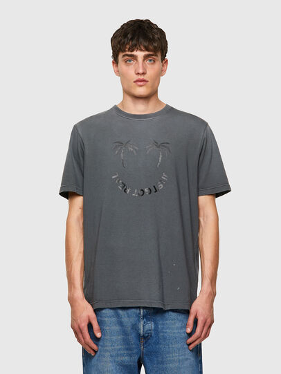 Diesel - T-JUST-B64, Grigio - T-Shirts - Image 1