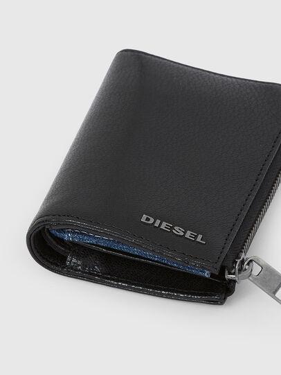 Diesel - L-12 ZIP, Schwarz/Blau - Portemonnaies Zip-Around - Image 5