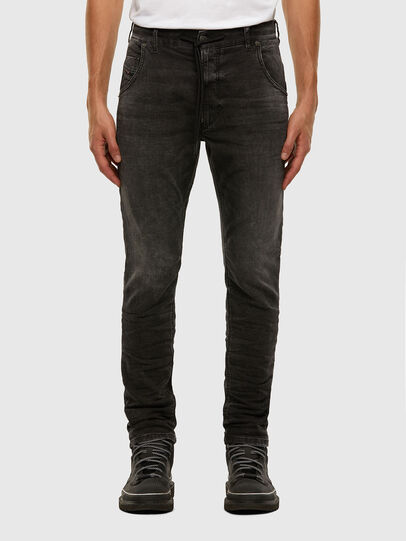 Diesel - KROOLEY JoggJeans® 009FZ, Schwarz/Dunkelgrau - Jeans - Image 1