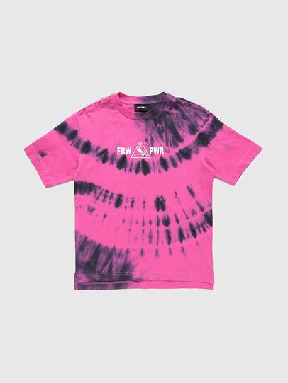 Diesel - TJUSTSLITSX86 OVER, Rose - T-shirts et Hauts - Image 1