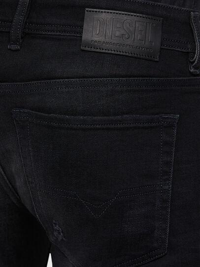 Diesel - Sleenker 0092B, Schwarz/Dunkelgrau - Jeans - Image 4