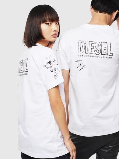 Diesel - CL-T-DIEGO-3, Weiß - T-Shirts - Image 3