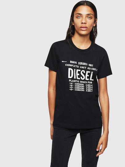 Diesel - T-SILY-ZF, Schwarz - T-Shirts - Image 1