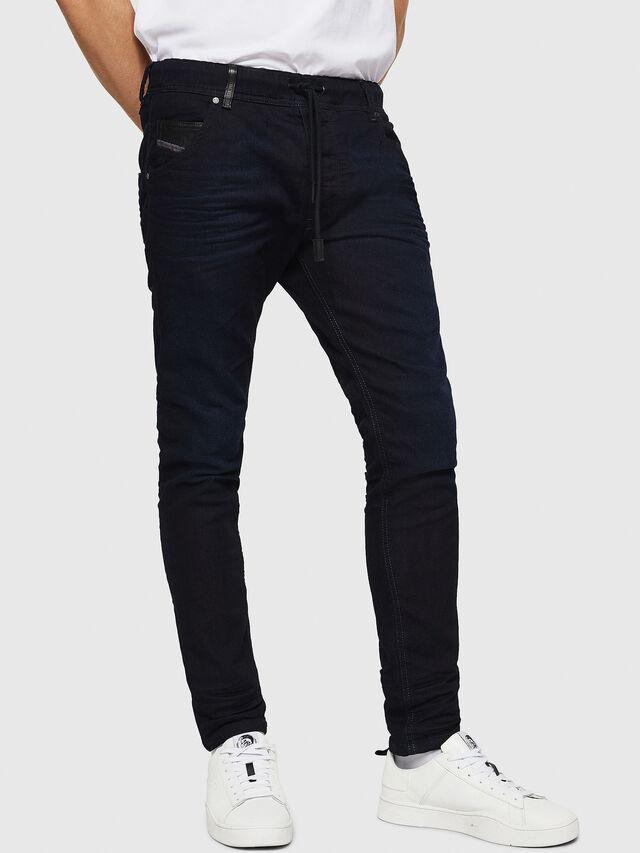 Diesel Krooley JoggJeans 0829P, Dunkelblau - Jeans - Image 1