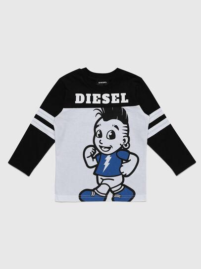 Diesel - TILLYB-R, Schwarz/Weiss - T-Shirts und Tops - Image 1