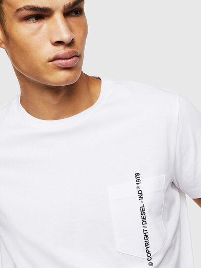 Diesel - T-RUBIN-POCKET-J1, Weiß - T-Shirts - Image 3