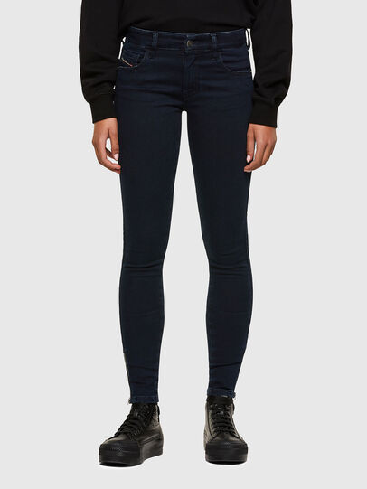 Diesel - Slandy Low 009PV, Blu Scuro - Jeans - Image 1