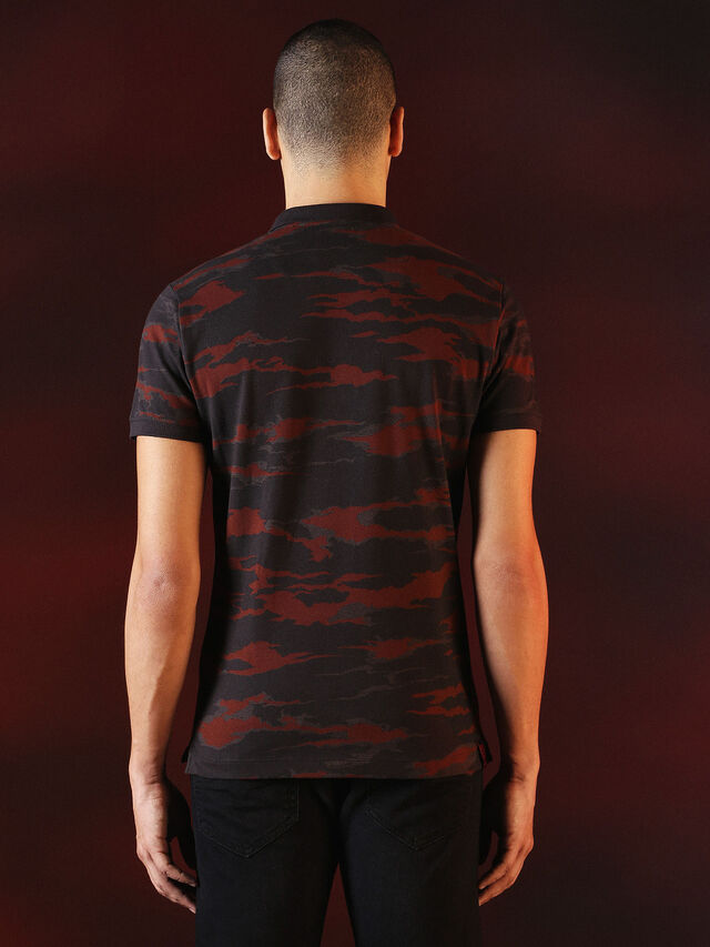Diesel - DVL-POLO-SPECIAL COLLECTION, Rot/Schwarz - Polohemden - Image 3