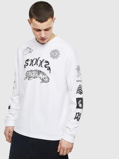 Diesel - T-JUSTLY, Weiß - T-Shirts - Image 1