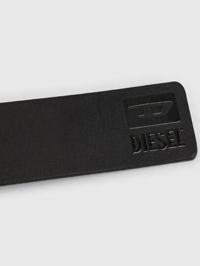Diesel - B-DIVISION, Noir Brillant - Ceintures - Image 4