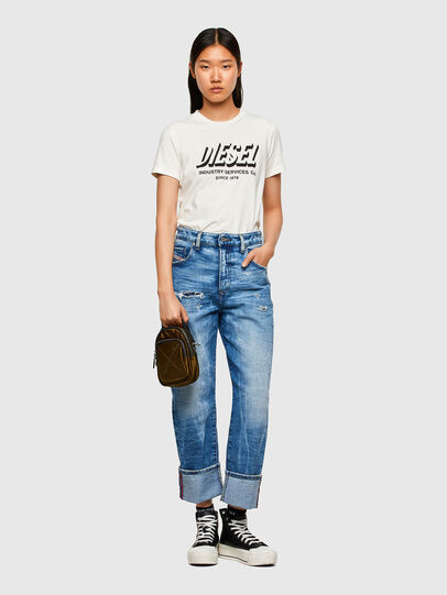 Diesel - T-SILY-R4, Bianco - T-Shirts - Image 4