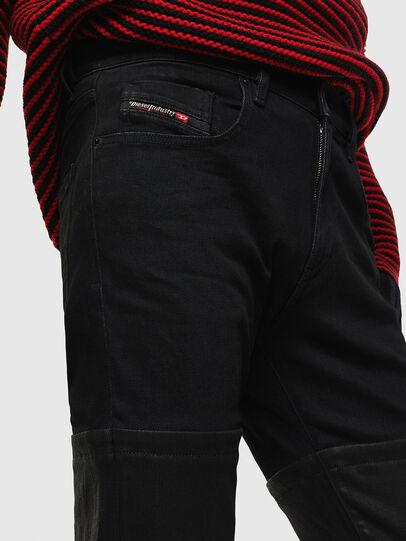Diesel - D-Strukt 0091W, Schwarz/Dunkelgrau - Jeans - Image 4
