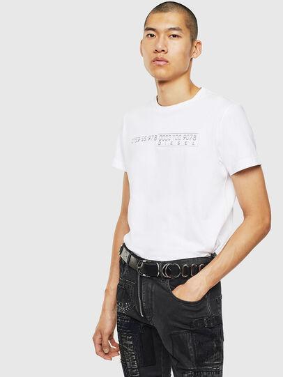 Diesel - T-DIEGO-SLITS-J6, Weiß - T-Shirts - Image 4