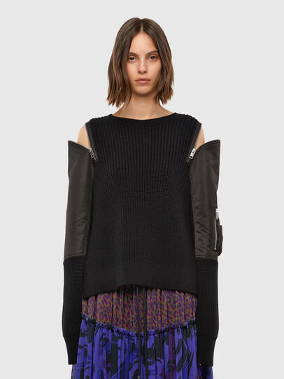 Diesel - M-CLARE, Noir - Pull Maille - Image 1