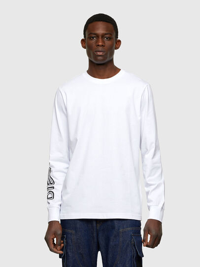 Diesel - T-JUST-LS-A7, Bianco - T-Shirts - Image 1