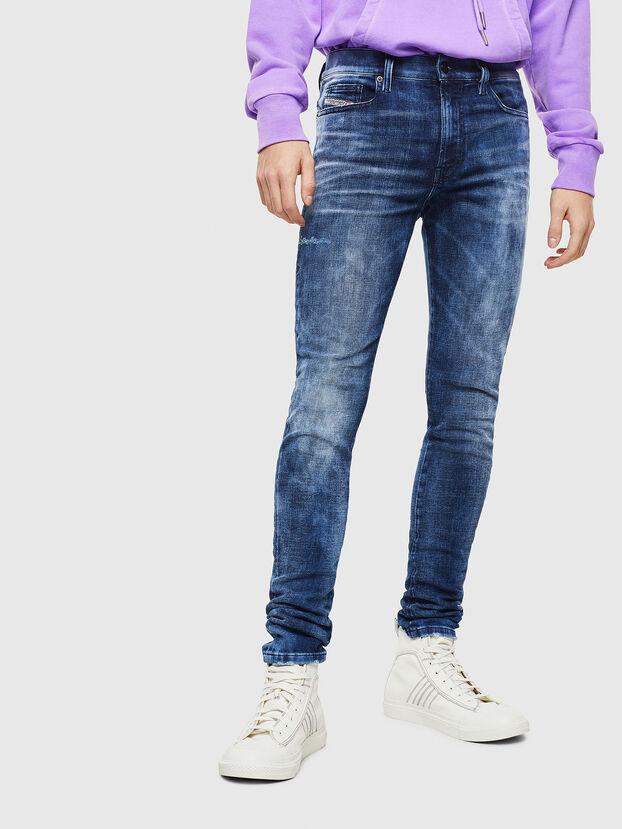 D-Amny 0096Q, Mittelblau - Jeans