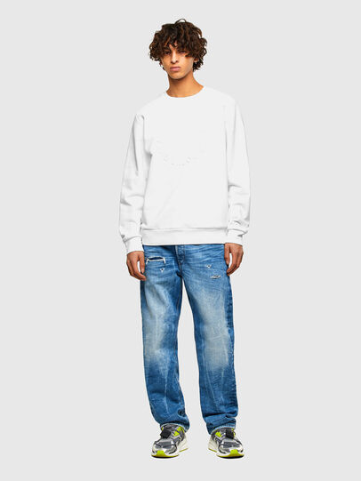 Diesel - S-GIRK-A70, Blanc - Pull Cotton - Image 4