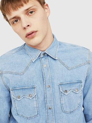 D-LEO, Jeansblau - Denimhemden