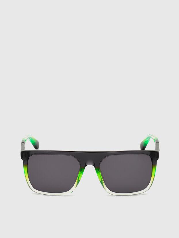 DL0299, Schwarz/Grün - Sonnenbrille