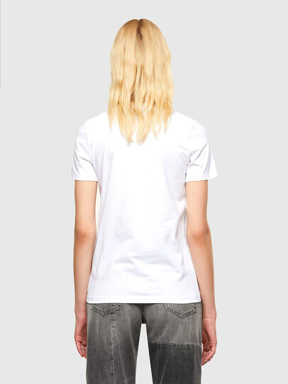 Diesel - T-SILY-SMALLOGO, Blanc - T-Shirts - Image 2